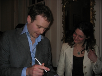 London launch of Metronome Press at the Arts Club: Tom McCarthy & Louise Stern